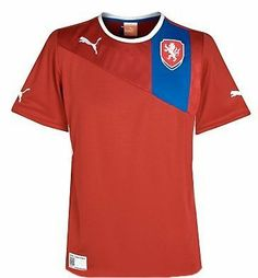 Puma Czech Republic Home Football Shirt 2012-13 by PUMA. $51.14. The Czech Republic Home Football Shirt is a new design for the up and coming euroChampionship which will be held jointly by the Ukraine and Poland. Red has always been the traditional colour for the Czech Republic home kit and this year is no exception, the shirt is made up of 100% polyester fibres the neck has a round collar which has a white trim, from the shoulder down on the left hand side, there is a blue ba...