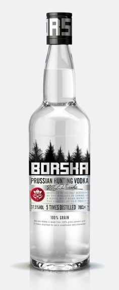Vokda Borsha | #packaging #bottledesign #vodka
