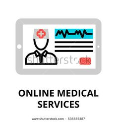 Modern flat editable line design vector illustration, concept of online medical services icon, for graphic and web design