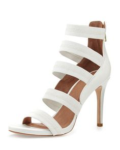Jana Leather Stretch-Band Sandal, White by Joie at Neiman Marcus | $375