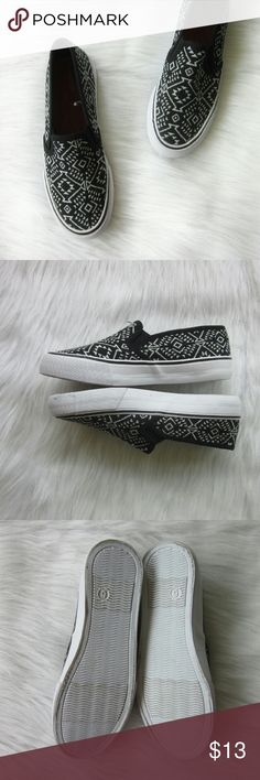 Aztec Slipons Size 6 New without box. Never worn. 6  Bundle for best deals! Hundreds of items available for discounted bundles! You can get lots of items for a low price and one shipping fee!  Follow on IG: @the.junk.drawer Mossimo Supply Co. Shoes Sneakers