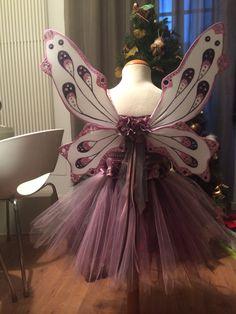 Disfraz de hada con alas. IMPRESIONANTE!!!!