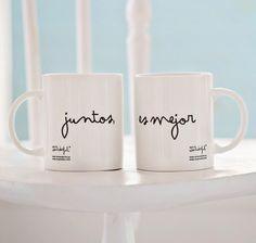 Pareja 2 tazas Juntos es mejor #sanvalentin