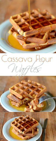 Cassava Flour Waffles made with Otto's Naturals Cassava Flour | Cook It Up Paleo