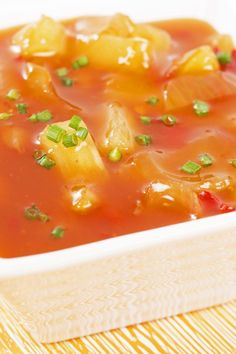 The Best Sweet and Sour Sauce with Pineapple Recipe - Gluten free, low fat, and low calorie.