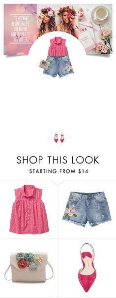 """""""Untitled #327"""" by soledestate ❤ liked on Polyvore featuring Paul Andrew, DENIMCUTOFFS and eyelet"""