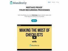 Manifestly, service en ligne gratuit pour accomplir des tâches récurrentes