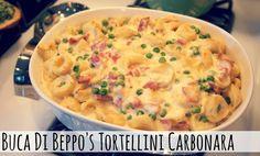 Living In Yellow: Tortellini Carbonara (You Asked For It, You Got It) Tortellini Bake, Tortellini Recipes, Pasta Recipes, Quick Recipes, Quick Meals, Delicious Recipes, Dinner Entrees, Dinner Recipes, Dinner Ideas