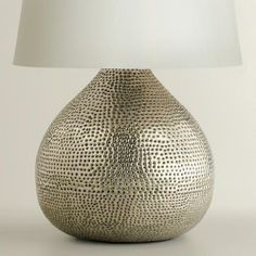 Bon Pewter Prema Punched Metal Table Lamp Base