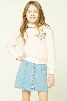 Short Botones - Niñas - Pantalones + Faldas - 2000103759 - Forever 21 EU Español