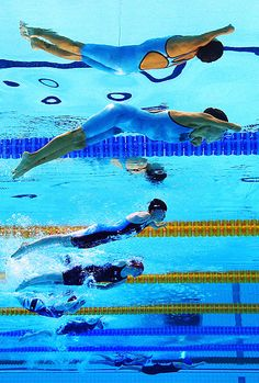 Grace: paralympic swimmers compete against athletes with similar levels of function - though their disabilities may be very different. In consequence a single event in the pool may see a diverse array of swimming techniques specific to each athlete - Picture: GETTY IMAGES