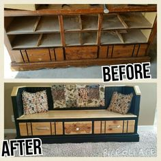 Change an old dresser into a bench