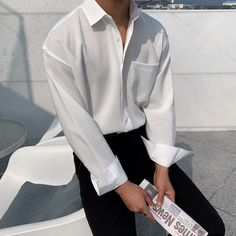 Boys Summer Outfits, Boy Outfits, Cute Outfits, Fashion Outfits, Korean Fashion Men, Korean Men, Mens Fashion, Outfit Meaning, Korea Boy