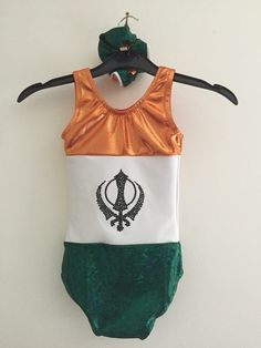 Back of Indian flag leotard made by creations by claire hardy Indian Flag, Leotards, Claire, Tights, Bodysuit, Tricot
