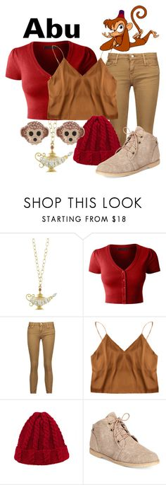 """Abu"" by princesschandler ❤ liked on Polyvore featuring Cathy Waterman, LE3NO, IRO, Bearpaw, Kate Spade, disney, aladdin, disneybound and abu"
