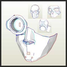 Steampunk / Sci-Fi Mask Paper Models Free Templates Download