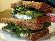 Recipe For 'Wichcraft's Goat Cheese Sandwich With avocado, celery, walnut pesto & watercress on multigrain bread