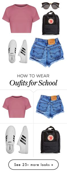 """Untitled #18"" by topgirllooks on Polyvore featuring adidas, Fjällräven and Illesteva"