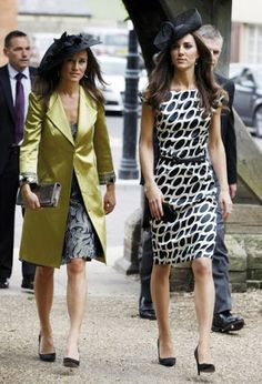 Kate and Pippa attend a friends wedding