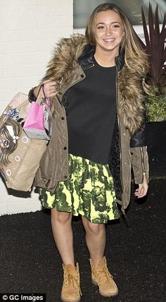 Bag ladies: Contestant Lauren Platt, left, and TV personality Katie Piper, right, were seen leaving with luggage