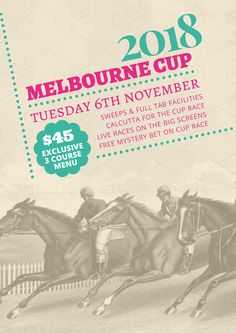 Melbourne Cup Sweeps Poster Termplate - The biggest range of customisable Melbourne Cup posters and flyers that take the hassle out of organising your promotions. Choose a template and drag, drop and be done! Cup Design, Menu Design, Spring Racing, Melbourne Cup, Vintage Horse, Graphic Design Templates, Horse Racing, Order Prints