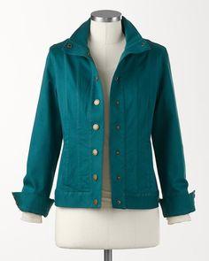 Sateen weekend jacket #ColdwaterCreek