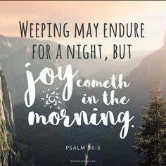 Joy Cometh in the Morning #MCDailyQuote