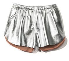 Silver leather shorts, love!