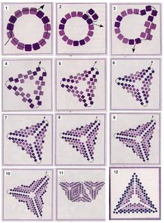 beading a triangle component ~ Seed Bead Tutorials More