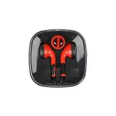 Marvel Deadpool Earbuds Hot Topic ($10) ❤ liked on Polyvore featuring accessories, tech accessories, earphones earbuds and red earbuds