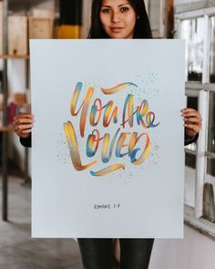 YOU ARE LOVED, designed by Stefan Kunz Digital PDF, Printable up to personal use only, not to be used for commercial use. Hand Lettering Quotes, Creative Lettering, Types Of Lettering, Brush Lettering, Lettering Design, Lettering Ideas, Calligraphy Letters, Calligraphy Quotes, Modern Calligraphy