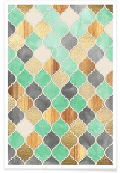 Textured Moroccan Pattern - Premium Poster