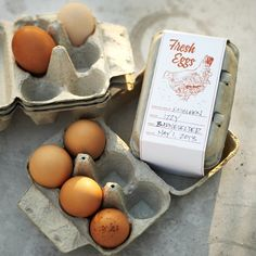 Egg Gift Crates, Set of 6