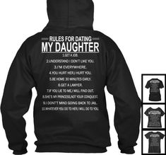 Girls rules for dating my daughter contract