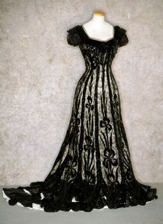 Black Evening Gown of Embroidered Net, 1905.