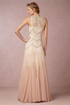 """Rose-hued ombre tulle bridal gown for the unconventional bride // BHLDN's """"Summer Loves"""" Collection"""