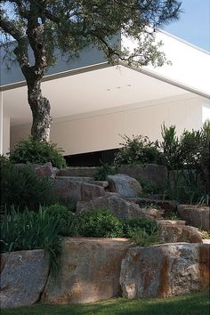 Atelier d'Architecture Bruno Erpicum & Partners the Rian House in France, endless sky, commanding trees, house and wild vines Detail Architecture, Landscape Architecture, Landscape Design, Garden Design, House Architecture, Garden Features, Water Features, Porches, Houses In France
