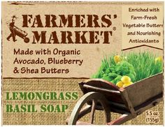 Farmers Market Natural Bar Soap Lemongrass and Basil 55 Ounce Pack of 2 >>> You can get additional details at the image link.