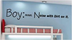 Boy noun. Noise With Dirt On It.  Nursery by SweetumsSignatures, $10.50