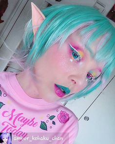 Recreate the look of your favorite anime & manga with Sweety Anime pink contacts. Bright, emotive & strongly pigmented- these lenses are perfect for out of the world cosplay transformations. Doll Eye Makeup, Eye Makeup Art, Fairy Makeup, Makeup Inspo, Makeup Inspiration, Beauty Makeup, Fun Makeup, Kawaii Makeup, Magical Makeup