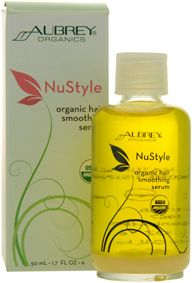 Aubrey Organics NuStyle Organic Hair Smoothing Serum made with quinoa protein. Nutrient-rich serum replenishes moisture & smoothes the hair's cuticle to reduce frizzing & repair damaged ends. Use after or in-between shampoos to protect hair from blow dryer & flat iron damage & restore manageability & shine. Deep-conditioning treatment for damaged, brittle hair & split ends. Certified organic. Vegan…