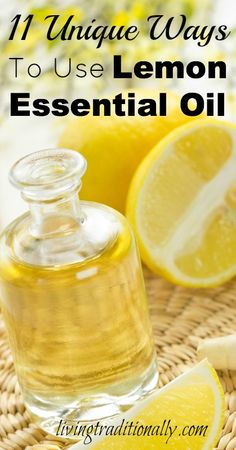 11 Unique Ways To Use Lemon Essential Oil