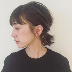 Pin by Saiko Nakahashi on Hair in 2019 Hair Inspo, Hair Inspiration, Bob Updo, Medium Hair Styles, Short Hair Styles, Hair Arrange, Hair Setting, Hair Reference, Hair Strand