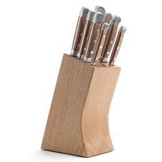 MESSERBLOCK - Eiche - Messerblock aus Eiche für 8 Teile, bis 26 cm. Maße: 25,5 cm x 11 cm x 16,5 cm