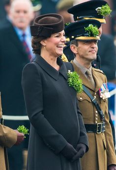 Pin for Later: Prince William and Kate Middleton Celebrate St. Patrick's Day at a Parade