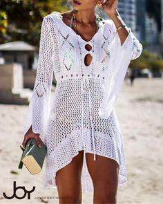 2019 Sexy Summer Women Beach Wear Crochet Swimwear Swimsuit Bikini Cover Up Colors Beachwear Long Cover-Ups 336 Swimwear Cover Ups, Bikini Cover Up, Swimsuit Cover Ups, Sexy Bikini, Swim Cover, Bikini Swimsuit, Monokini, Dms Boutique, Crochet Cover Up