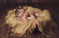 Burlap Blanket Newborn Photo Prop Mini Baby Blanket by Lifeinmypjs, $9.00