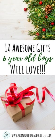 Gifts every 6 year old boy would love. gifts for 6 year old boys. momwifehomeschoollife.com