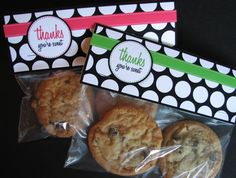 Thanks You're Sweet Free Printable. The perfect size to fit a sandwich bag!