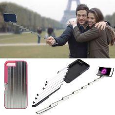 New Foldable PC Aluminum Case for Iphone 6 6S Plus 6 Plus 7 7 Plus Selfie Sticks Bluetooth Case Multifunctional Self-stick //Price: $23.12 & FREE Shipping //     #hashtag3